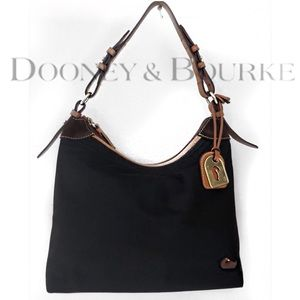 DOONEY & BOURKE NYLON SUEDE SHOULDER BAG PURSE